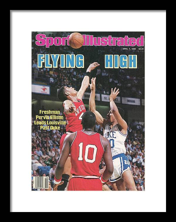 1980-1989 Framed Print featuring the photograph University Of Louisville Pervis Ellison, 1986 Ncaa National Sports Illustrated Cover by Sports Illustrated