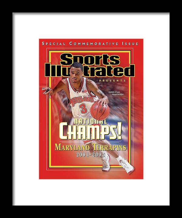 Atlantic Coast Conference Framed Print featuring the photograph University Of Maryland Juan Dixon, 2002 Ncaa National Sports Illustrated Cover by Sports Illustrated
