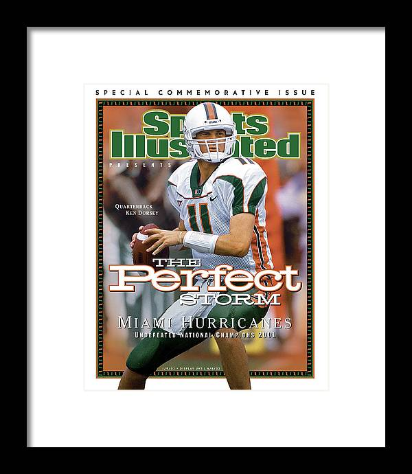 Sports Illustrated Framed Print featuring the photograph University Of Miami Qb Ken Dorsey, 2001 Ncaa National Sports Illustrated Cover by Sports Illustrated