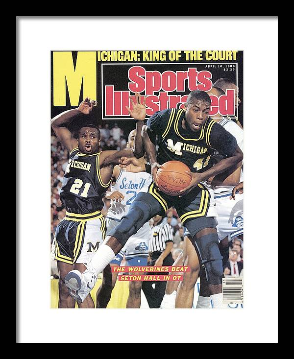 Glen Rice Framed Print featuring the photograph University Of Michigan Glen Rice, 1989 Ncaa National Sports Illustrated Cover by Sports Illustrated