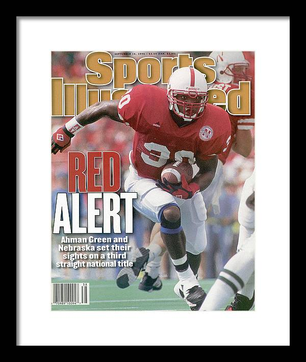 Michigan State University Framed Print featuring the photograph University Of Nebraska Ahman Green Sports Illustrated Cover by Sports Illustrated
