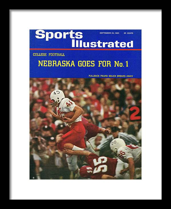 Frank Solich Framed Print featuring the photograph University Of Nebraska Frank Solich, 1965 Cotton Bowl Sports Illustrated Cover by Sports Illustrated