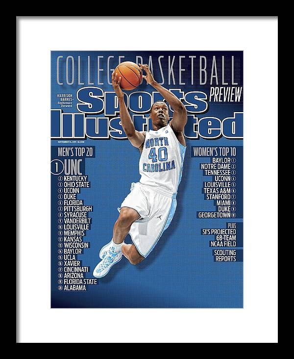 Magazine Cover Framed Print featuring the photograph University Of North Carolina Harrison Barnes, 2011-12 Sports Illustrated Cover by Sports Illustrated