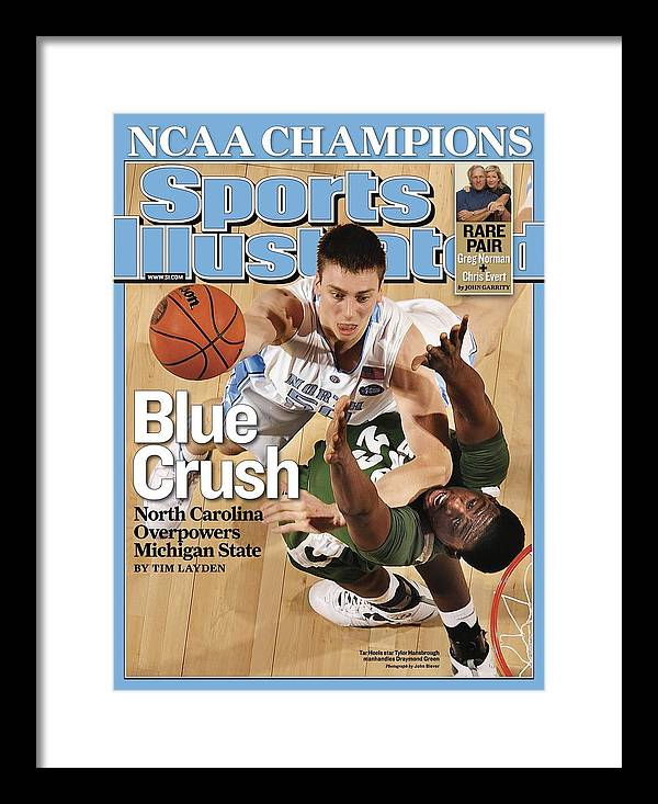 Michigan State University Framed Print featuring the photograph University Of North Carolina Tyler Hansbrough, 2009 Ncaa Sports Illustrated Cover by Sports Illustrated