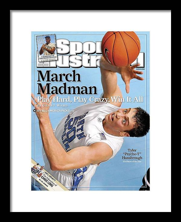 Magazine Cover Framed Print featuring the photograph University Of North Carolina Tyler Hansbrough Sports Illustrated Cover by Sports Illustrated