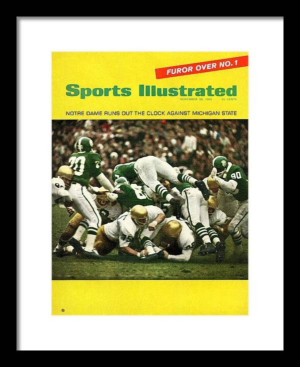 Michigan State University Framed Print featuring the photograph University Of Notre Dame Football Sports Illustrated Cover by Sports Illustrated