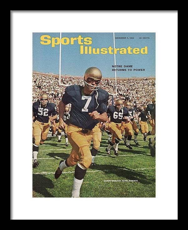 Magazine Cover Framed Print featuring the photograph University Of Notre Dame Qb Johnny Huarte Sports Illustrated Cover by Sports Illustrated