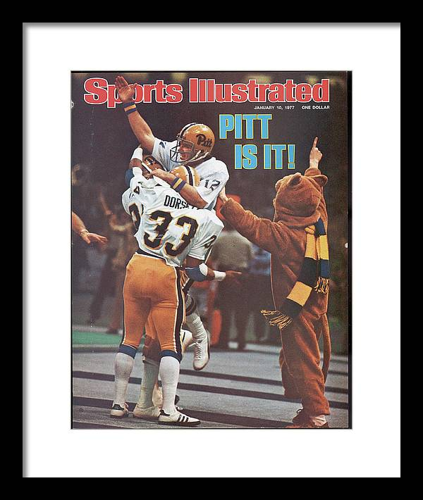 Magazine Cover Framed Print featuring the photograph University Of Pittsburgh Qb Matt Cavanaugh, 1977 Sugar Bowl Sports Illustrated Cover by Sports Illustrated