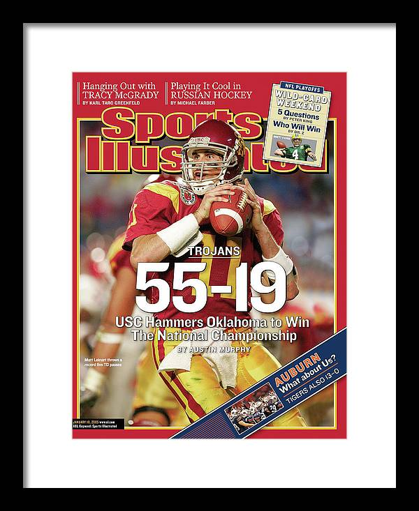 Miami Gardens Framed Print featuring the photograph University Of Southern California 2004 Bcs National Sports Illustrated Cover by Sports Illustrated
