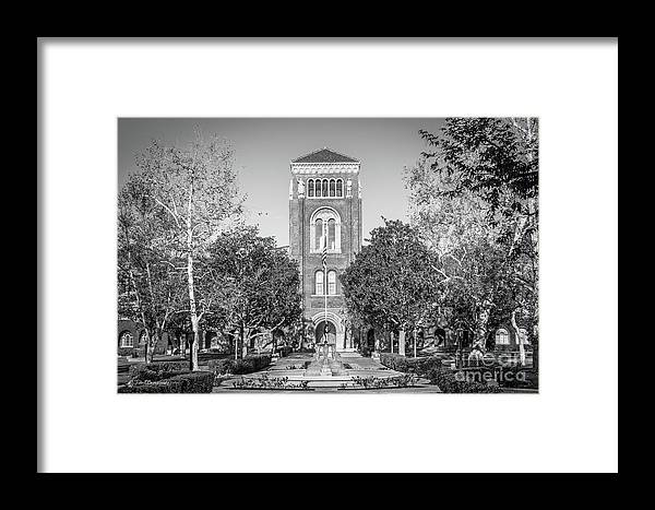 Usc Framed Print featuring the photograph University Of Southern California Admin Building by University Icons