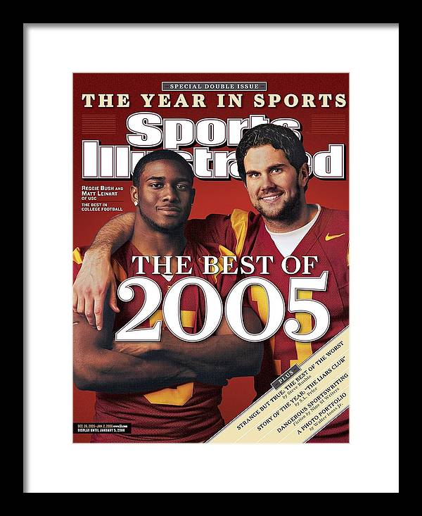 Hotel Framed Print featuring the photograph University Of Southern California Qb Matt Leinart And Sports Illustrated Cover by Sports Illustrated