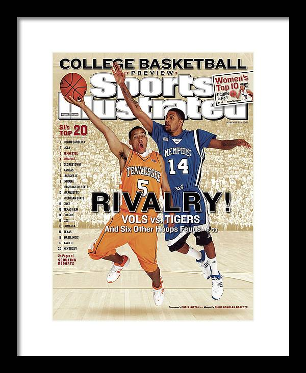 Magazine Cover Framed Print featuring the photograph University Of Tennessee Chris Lofton And University Of Sports Illustrated Cover by Sports Illustrated