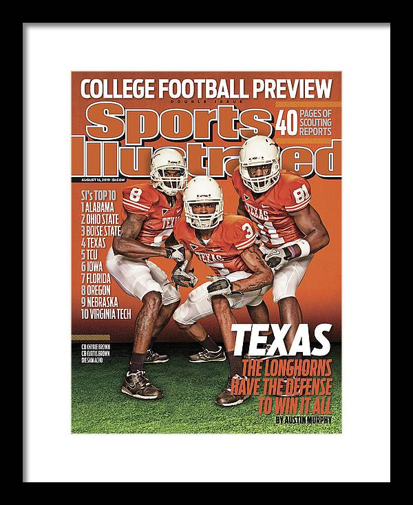 Season Framed Print featuring the photograph University Of Texas, 2010 College Football Preview Issue Sports Illustrated Cover by Sports Illustrated