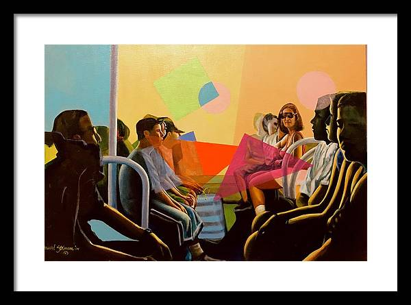 People Framed Print featuring the painting All Aboard by Howard Stroman