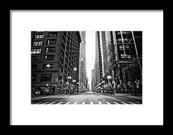 Crosswalk Framed Print featuring the photograph Urban Chicago City Intersection Of by Nicole Kucera