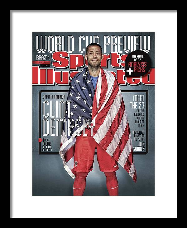 Magazine Cover Framed Print featuring the photograph Us Mens National Team, 2014 Fifa World Cup Preview Issue Sports Illustrated Cover by Sports Illustrated