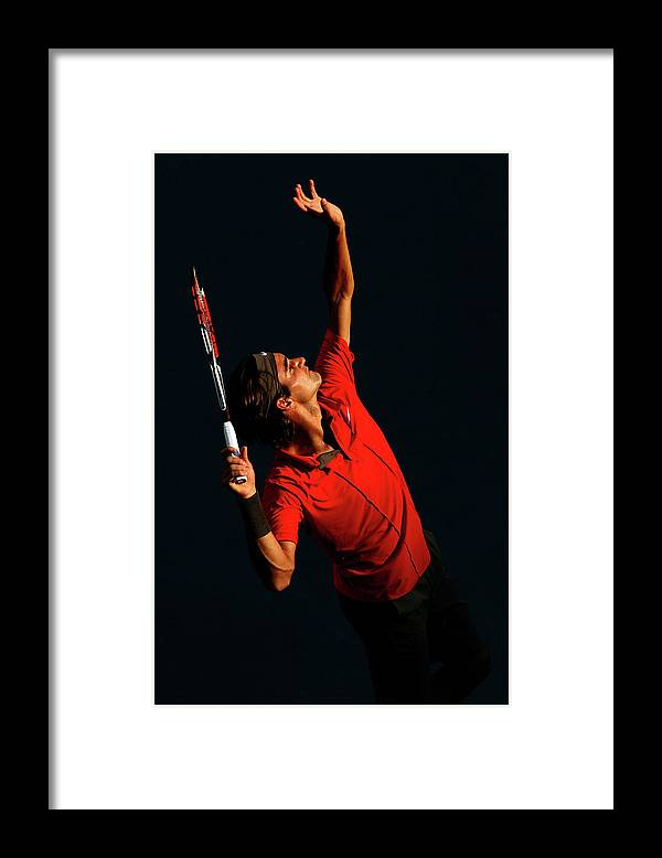 Tennis Framed Print featuring the photograph U.s. Open - Day 9 by Al Bello