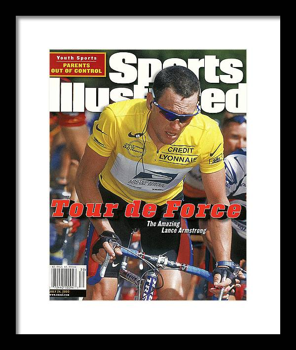 Magazine Cover Framed Print featuring the photograph Us Postal Service Team Lance Armstrong, 2000 Tour De France Sports Illustrated Cover by Sports Illustrated
