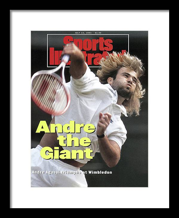 Magazine Cover Framed Print featuring the photograph Usa Andre Agassi, 1992 Wimbledon Sports Illustrated Cover by Sports Illustrated