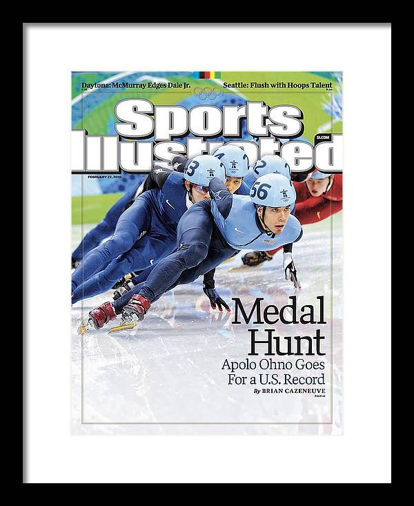 The Olympic Games Framed Print featuring the photograph Usa Apolo Anton Ohno, 2010 Winter Olympics Sports Illustrated Cover by Sports Illustrated