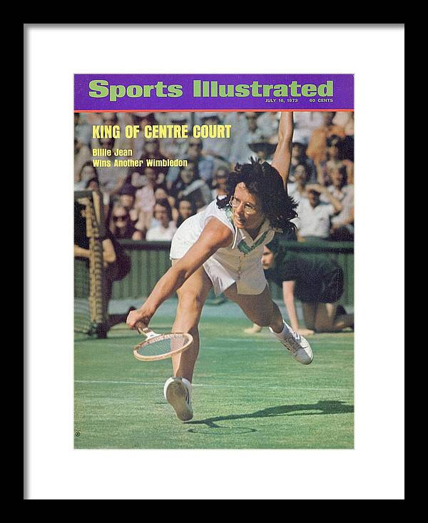 Tennis Framed Print featuring the photograph Usa Billie Jean King, 1973 Wimbledon Sports Illustrated Cover by Sports Illustrated