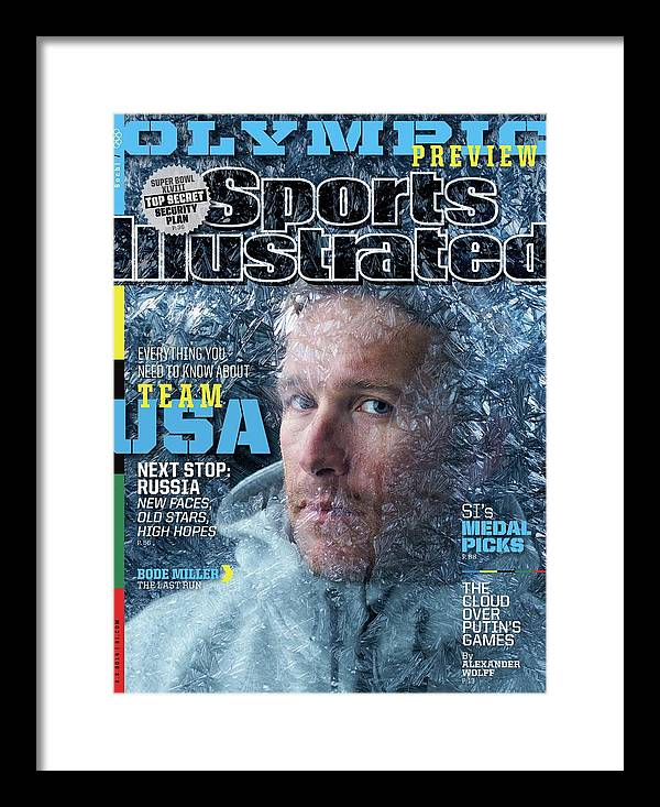 Media Day Framed Print featuring the photograph Usa Bode Miller, 2014 Sochi Olympic Games Preview Issue Sports Illustrated Cover by Sports Illustrated