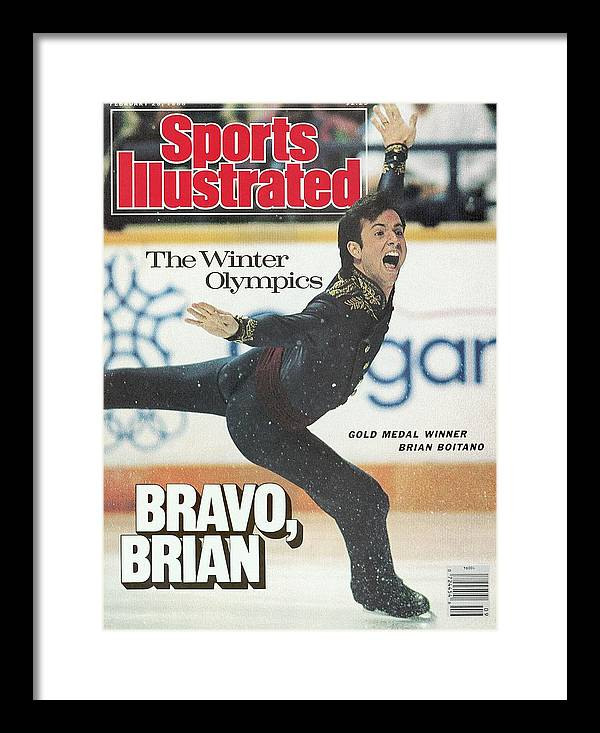 Event Framed Print featuring the photograph Usa Brian Boitano, 1988 Winter Olympics Sports Illustrated Cover by Sports Illustrated