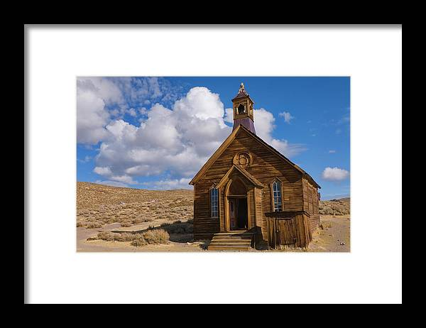 Scenics Framed Print featuring the photograph Usa, California, Bodie, Old Church In by Gary J Weathers