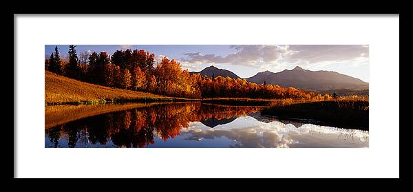 Water's Edge Framed Print featuring the photograph Usa, Colorado, Telluride, Sunrise Peak by Jeremy Woodhouse