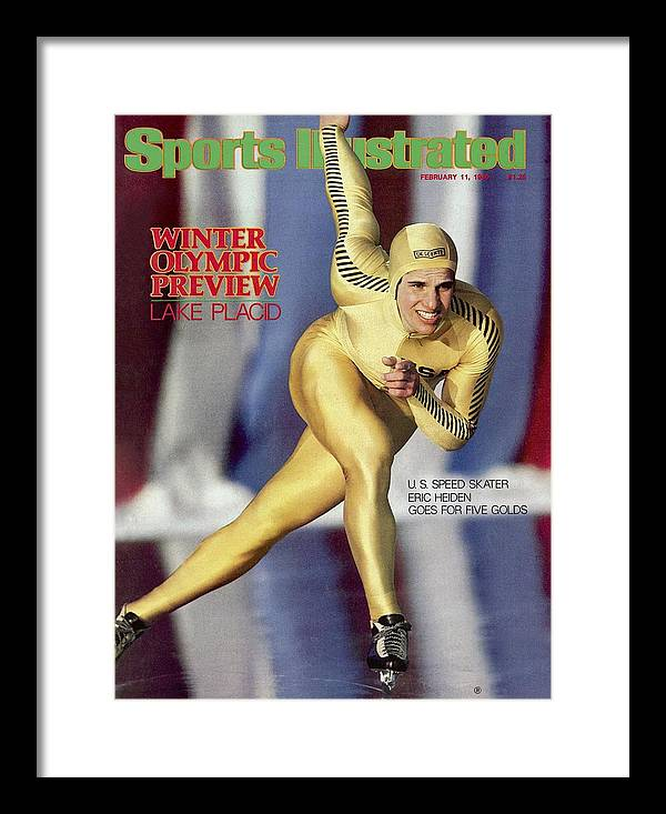 The Olympic Games Framed Print featuring the photograph Usa Eric Heiden, 1980 Lake Placid Olympic Games Preview Sports Illustrated Cover by Sports Illustrated