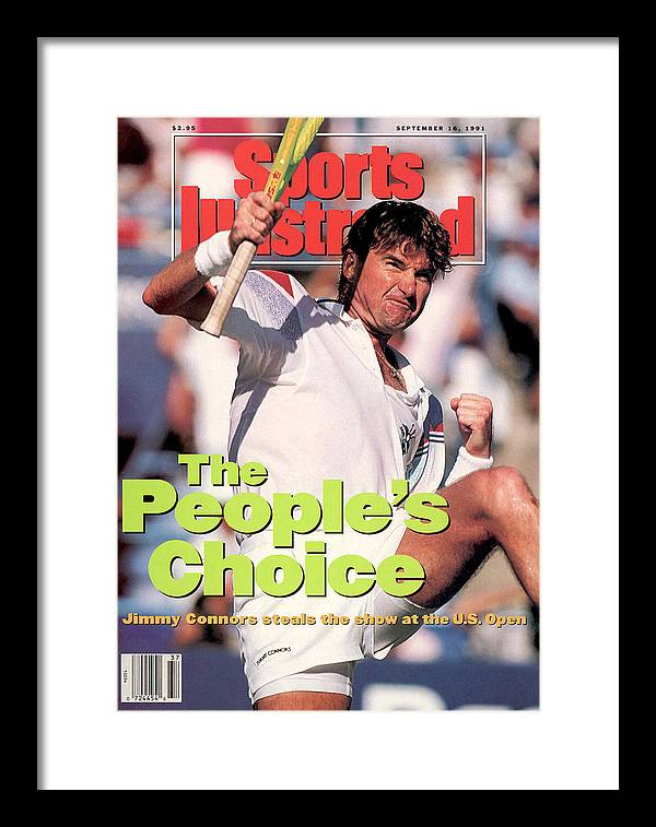 Tennis Framed Print featuring the photograph Usa Jimmy Connors, 1991 Us Open Sports Illustrated Cover by Sports Illustrated