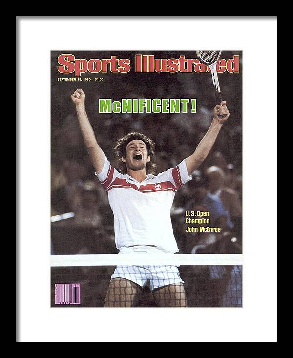 1980-1989 Framed Print featuring the photograph Usa John Mcenroe, 1980 Us Open Sports Illustrated Cover by Sports Illustrated