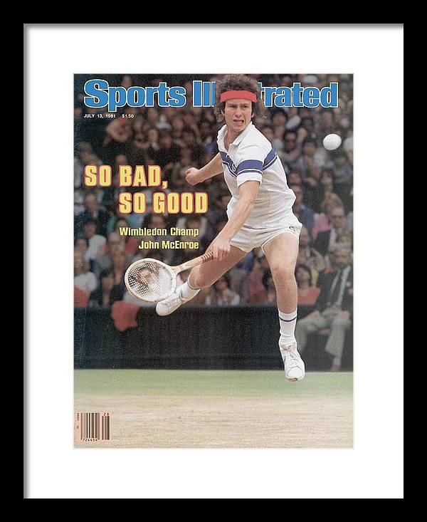 1980-1989 Framed Print featuring the photograph Usa John Mcenroe, 1981 Wimbledon Sports Illustrated Cover by Sports Illustrated