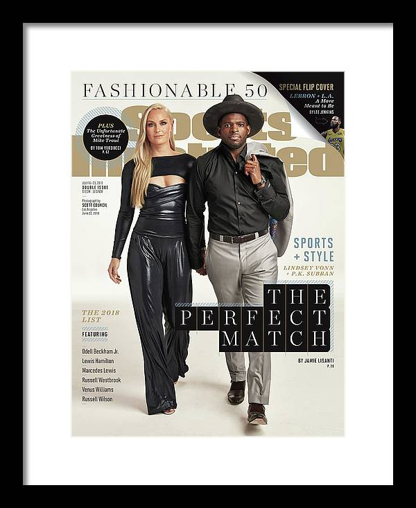 Magazine Cover Framed Print featuring the photograph Usa Lindsey Vonn And Nashville Predators P.k. Subban, 2018 Sports Illustrated Cover by Sports Illustrated