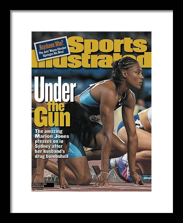 Magazine Cover Framed Print featuring the photograph Usa Marion Jones, 2000 Summer Olympics Sports Illustrated Cover by Sports Illustrated