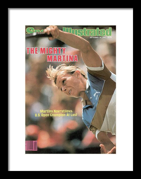 1980-1989 Framed Print featuring the photograph Usa Martina Navratilova, 1983 Us Open Sports Illustrated Cover by Sports Illustrated