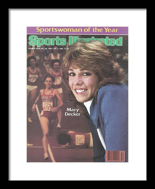 Magazine Cover Framed Print featuring the photograph Usa Mary Decker, 1983 Sportswoman Of The Year Sports Illustrated Cover by Sports Illustrated