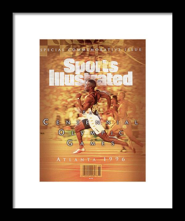 Atlanta Framed Print featuring the photograph Usa Michael Johnson, 1996 Summer Olympics Sports Illustrated Cover by Sports Illustrated