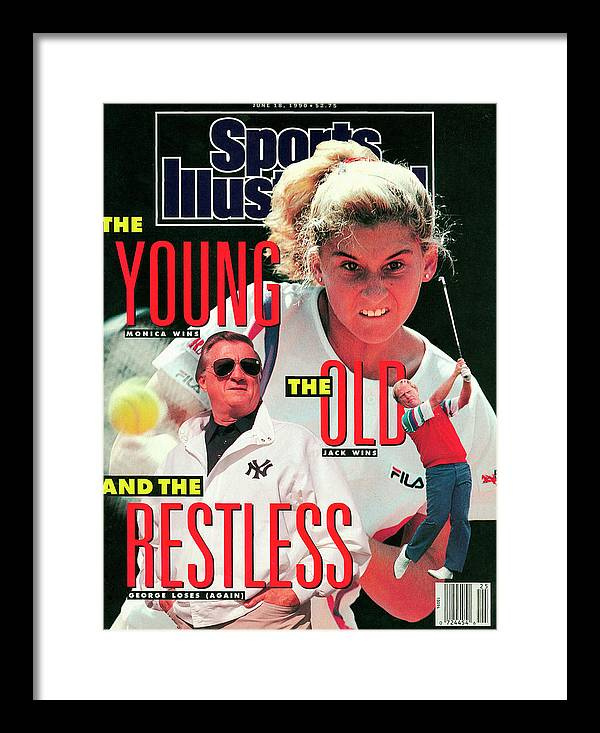 Tennis Framed Print featuring the photograph Usa Monica Seles, 1990 French Open Sports Illustrated Cover by Sports Illustrated