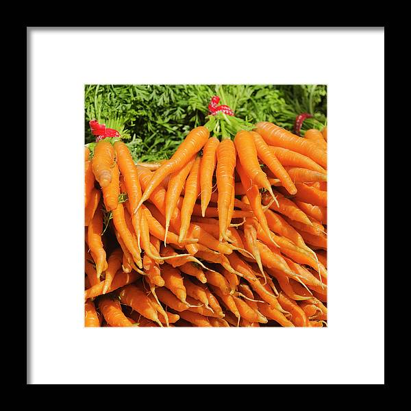Large Group Of Objects Framed Print featuring the photograph Usa, New York City, Carrots For Sale by Tetra Images