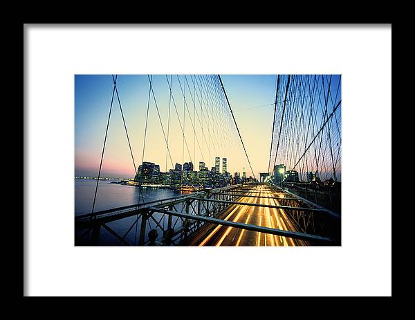 Twin Towers Framed Print featuring the photograph Usa, New York City, Manhattan, View by Paul Radenfeld