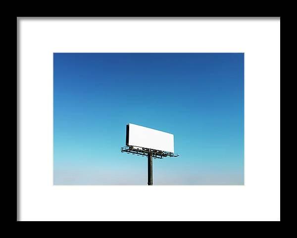 North Carolina Framed Print featuring the photograph Usa, North Carolina, Billboard Under by Tetra Images