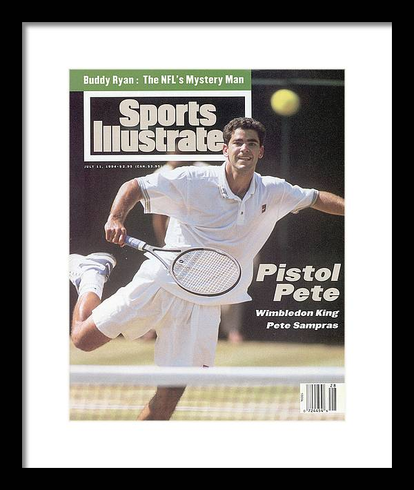 Tennis Framed Print featuring the photograph Usa Pete Sampras, 1994 Wimbledon Sports Illustrated Cover by Sports Illustrated