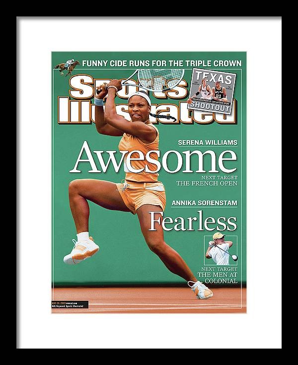 Tennis Framed Print featuring the photograph Usa Serena Williams, 2003 State Farm Womens Tennis Classic Sports Illustrated Cover by Sports Illustrated