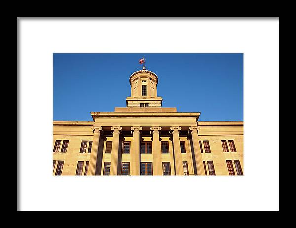 Clear Sky Framed Print featuring the photograph Usa, Tennessee, Nashville, State by Henryk Sadura