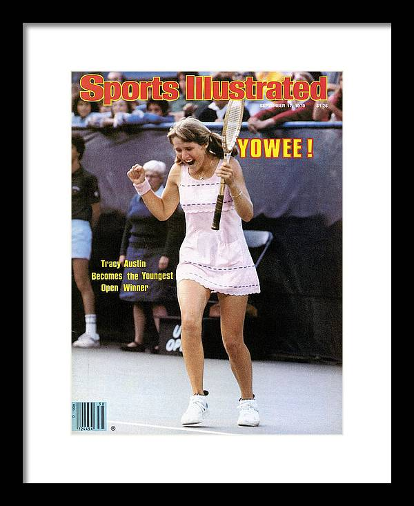 Tennis Framed Print featuring the photograph Usa Tracy Austin, 1979 Us Open Sports Illustrated Cover by Sports Illustrated