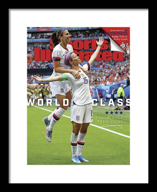 Magazine Cover Framed Print featuring the photograph Usa Vs Netherlands, 2019 Fifa Womens World Cup Final Sports Illustrated Cover by Sports Illustrated
