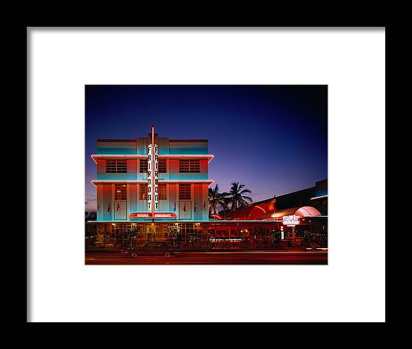 Hotel Framed Print featuring the photograph Usa,florida,miami,art Deco Historic by Siegfried Layda