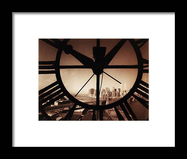 Suspension Bridge Framed Print featuring the photograph Usa,new York City, Brooklyn Bridge And by Russell Kaye/sandra-lee Phipps