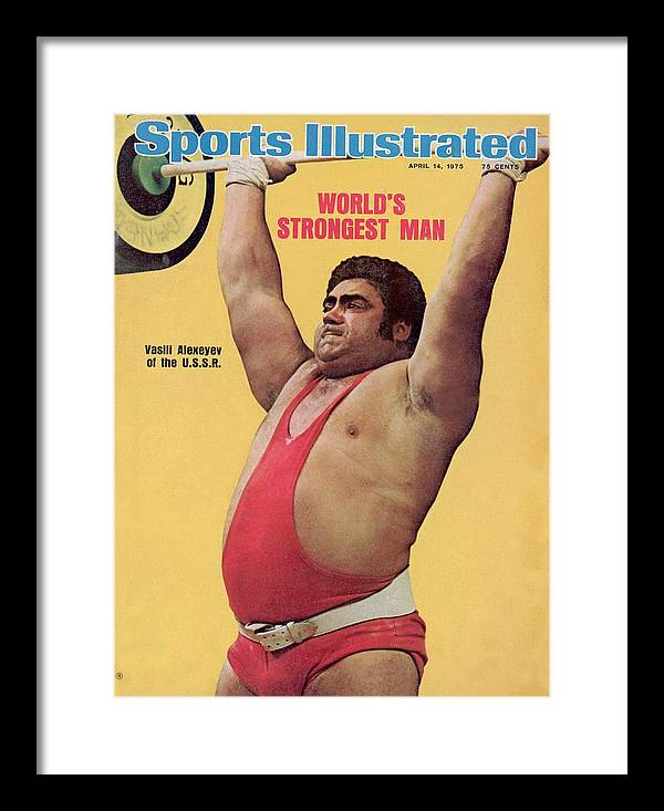 Event Framed Print featuring the photograph Ussr Vasily Alexeyev, 1972 Summer Olympics Sports Illustrated Cover by Sports Illustrated